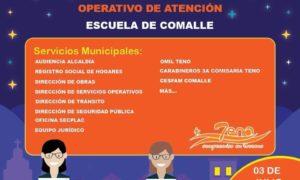 Operativo de Teno en terreno se presentará desde las 16:30 horas en la Escuela de Comalle