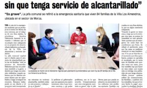 ALCALDESA SE REUNE CON AUTORIDADES PARA SOLICITAR AYUDA ANTE EMERGENCIA SANITARIA EN VILLA LOS ALMENDROS