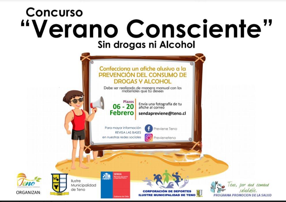 Participa enviando tu mejor dibulo alusivo a la prevención del consumo de drogas y alcohol al sendapreviene@teno.cl   ¡Mucha suerte!