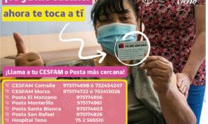 vacunatorios en Teno están abiertos de lunes a viernes desde las 08:30 a 16:00 horas.